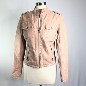 Red Snap Womens Bomber Jacket Size M